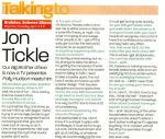 Jon Tickle interview in Heat about Brainiac.jpg